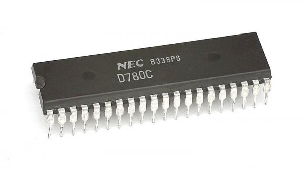 Procesor Z-80 produkcji firmy NEC, Źródło: Wikipedia, Autor: Konstantin Lanzet