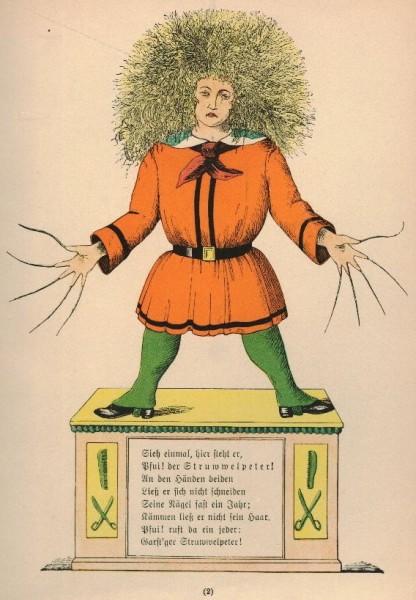 Heinrich Hoffmann - Struwwelpeter Źródło: Wikipedia