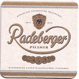 """Podkładka pod piwo """"Radeberger"""" Źródło: {a href=""""http://www.bierdeckelsammler.net""""}www.bierdeckelsammler.net{/a}"""
