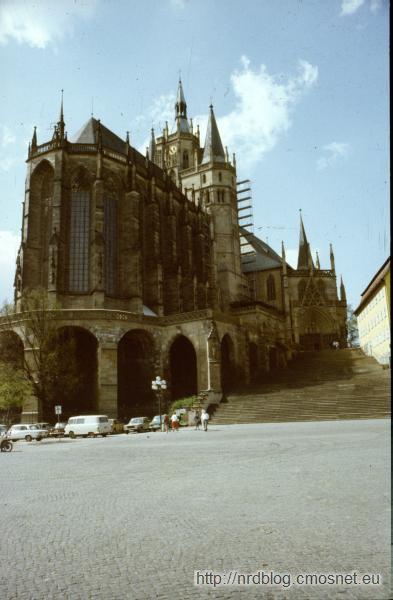 Erfurt - katedra, NRD, 1988