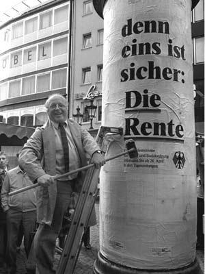 Norbert Blüm reklamuje rentę Źródło: gdzieś z sieci