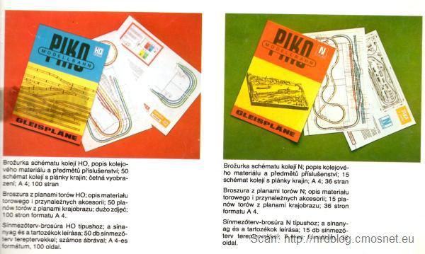 Katalog kolejek PIKO - plany torów, NRD, ok. 1975