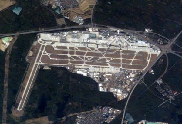 "Lotnisko we Frankfurcie Źródło: Wikipedia Autor: {a href=""http://en.wikipedia.org/wiki/User:AlbertR""}AlbertR{/a}"