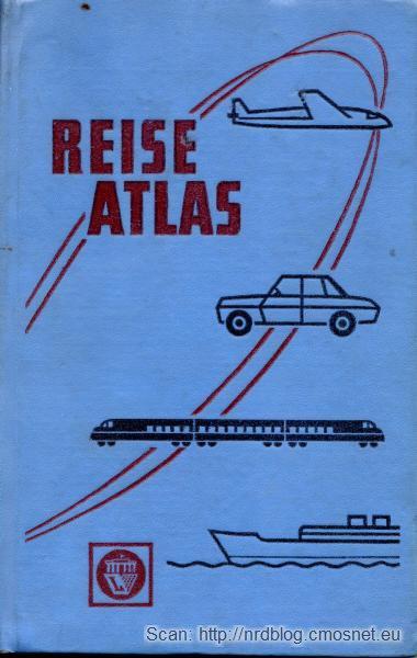 Atlas samochodowy z NRD, ok. 1972