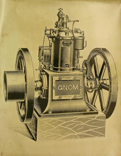 "Silnik GNOM Źródło: {a href=""http://www.gkmo.net""}Geschichtskreis Motorenfabrik Oberursel{/a}"
