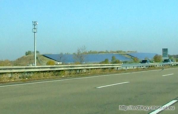 Elektrownia słoneczna przy A4 koło Erfurtu