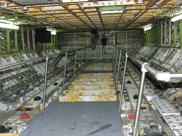 Technikmuseum Speyer - wnętrze samolotu Boeing 747 Jumbo Jet