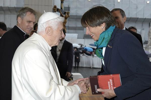 Gabriele Kuby z Benedyktem XVI