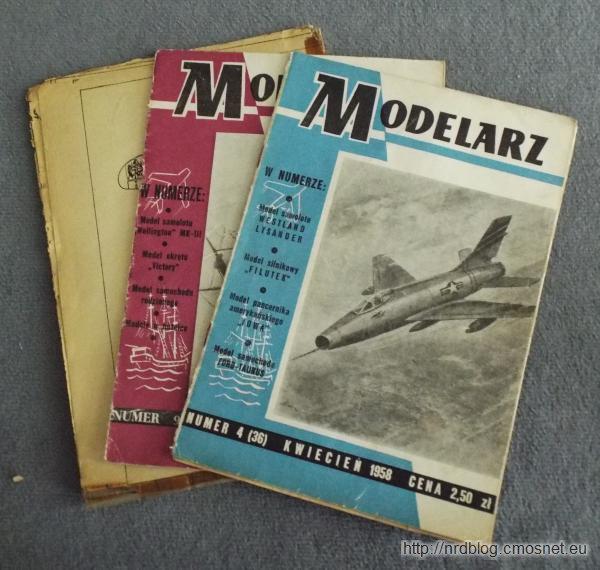 """Miesięcznik """"Modelarz"""" z lat 50-tych"""