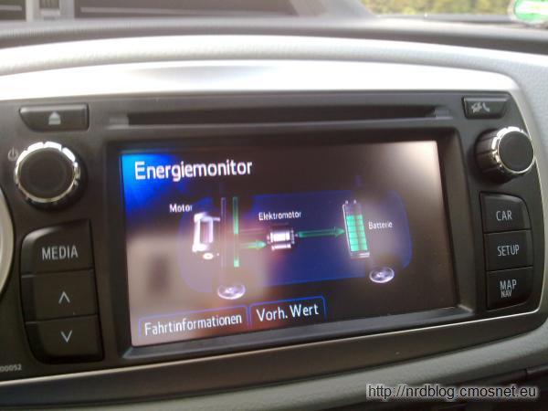 Yaris Hybrid - odzysk energii