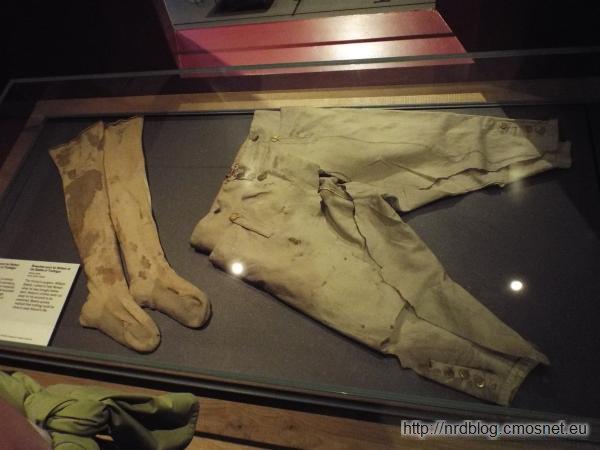 National Maritimee Museum London - bryczesy i pończochy Nelsona