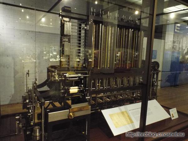 Science Museum London - Differential Engine Babbage'a