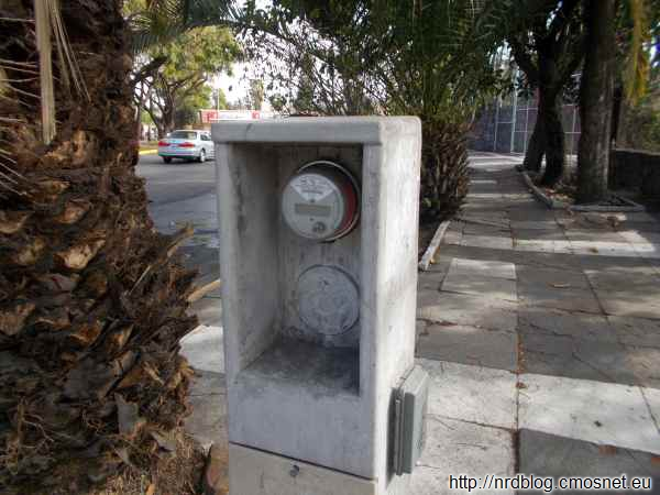 Licznik energii na ulicy
