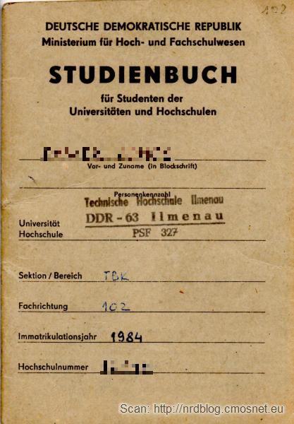 Indeks NRD-owskiej uczelni, 1984