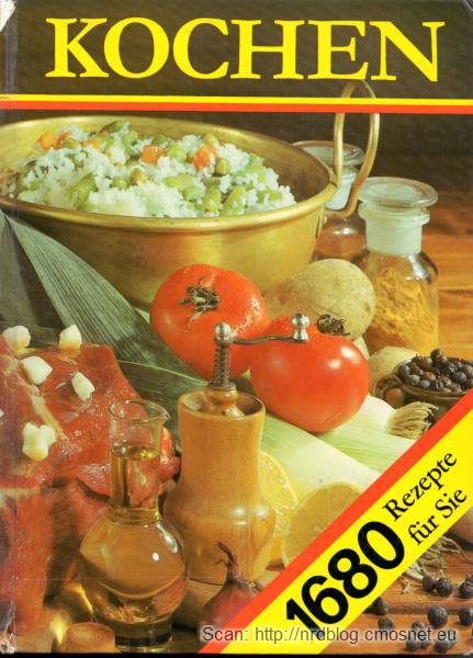 Książka kucharska z NRD, 1986