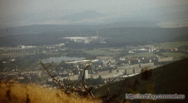 Ilmenau - widok ogólny, NRD, 1988