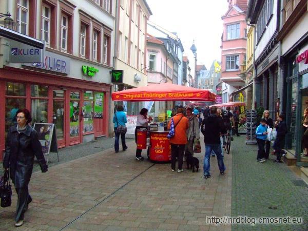 Stoisko z bratwurstami w Eisenach