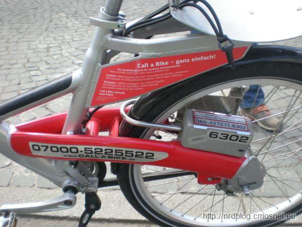 Rowery do wynajęcia Call a Bike, Frankfurt