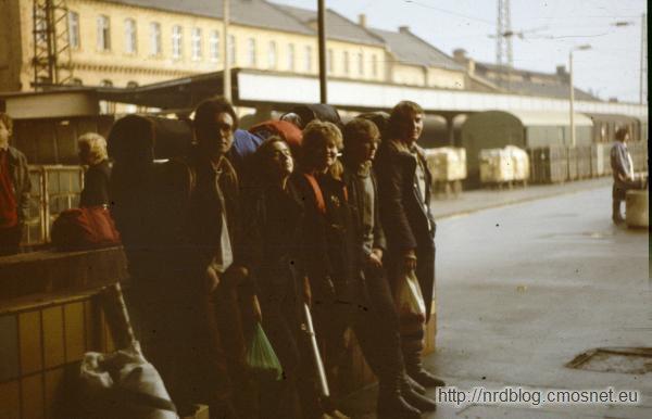 Dworzec Halle, NRD, 1988