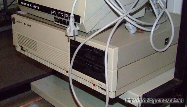 Komputer klasy XT - Robotron EC1834, NRD, 1988