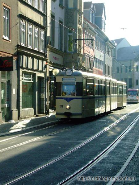 Stary tramwaj w Erfurcie