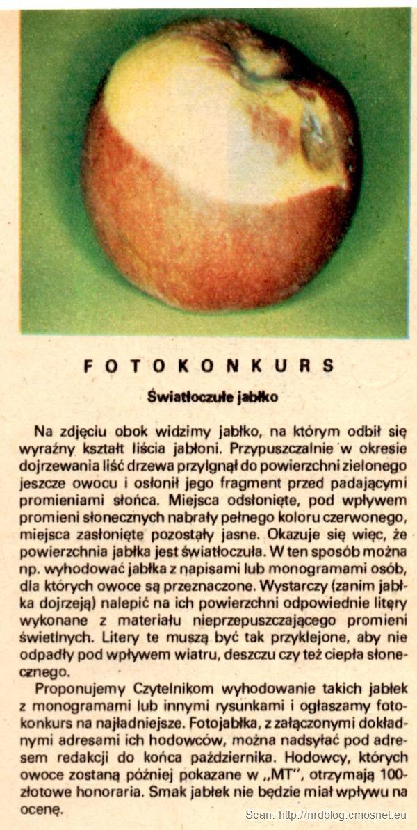 Skan artykułu z Młodego Technika 6/1976