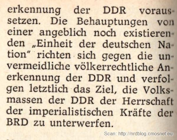 """Kleines Politisches Wörterbuch - hasło """"nationale Frage"""" c.d., dwa narody niemieckie"""