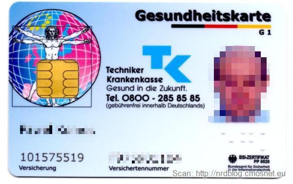 Nowa (od 2012) niemiecka karta ubezpieczenia zdrowotnego