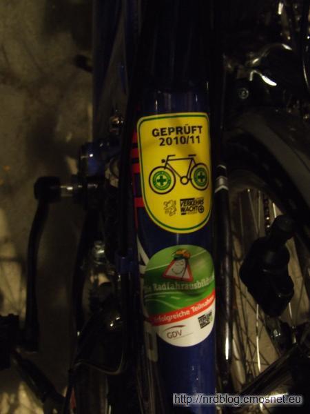 Naklejka przeglądu roweru, Niemcy