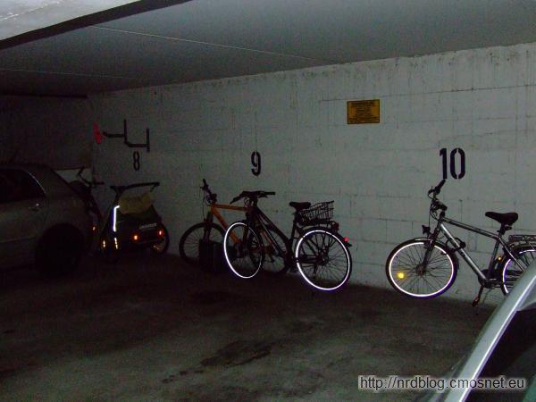 Rowery w garażu w Niemczech