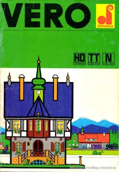 Katalog domków do kolejek VERO, NRD, ok. 1975
