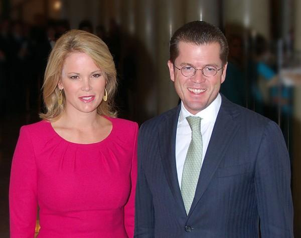 zu Guttenberg z żoną