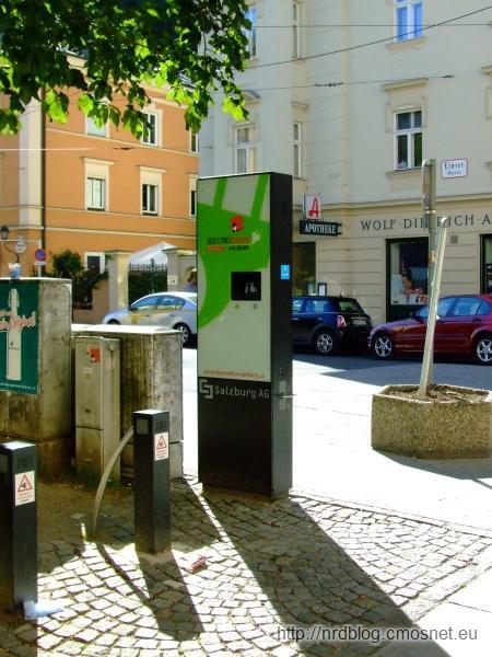 Stacja do ładowania pojazdów elektrycznych w Salzburgu