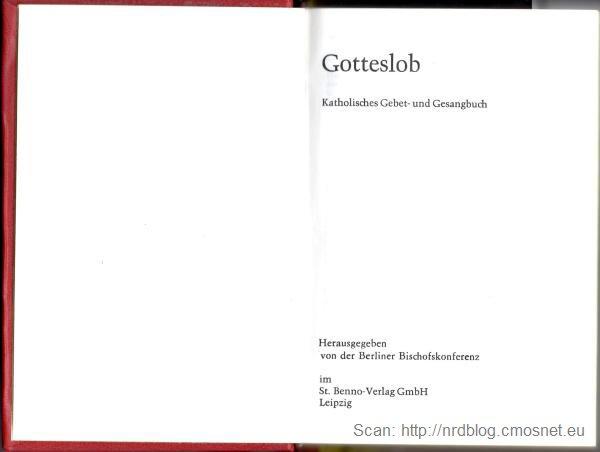 """Standardowa, katolicka książeczka do nabożeństwa w krajach niemieckojęzycznych """"Gotteslob"""""""