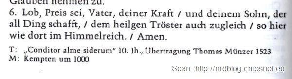 """Stara, niemiecka pieśń kościelna, skan z książeczki """"Gotteslob"""""""