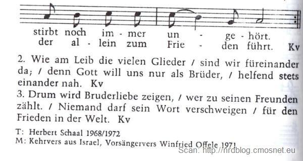 """Niemiecka pieśń kościelna w starej, seksistowskiej wersji, skan ze starej książeczki """"Gotteslob"""""""