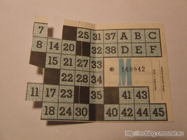 Kartka zaopatrzeniowa, PRL lata 80-te XX wieku