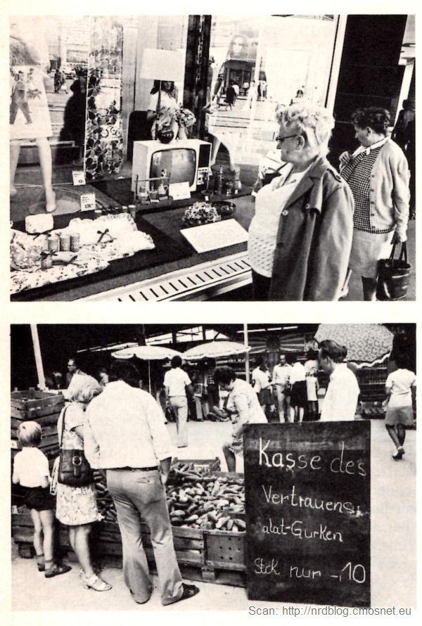 Lipsk (NRD) w roku 1977, skan z czasopisma Merian 9/77
