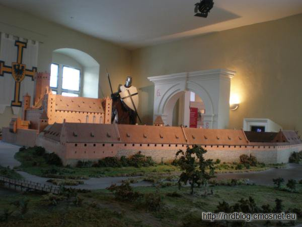 Model zamku krzyżackiego w muzeum w Bad Mergentheim