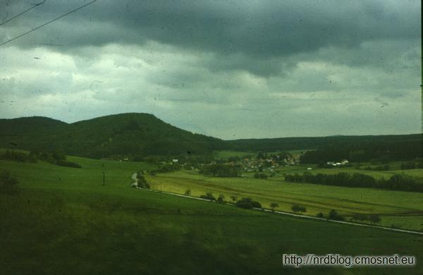 Krajobrazy wiejskie z NRD w roku 1988