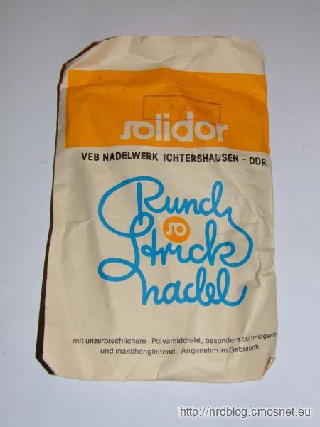 Opakowanie od drutów firmy VEB Solidor, NRD, ok. 1980