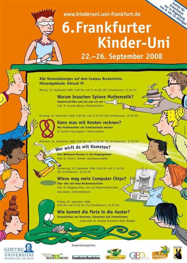 Plakat Kinder-Uni 2008