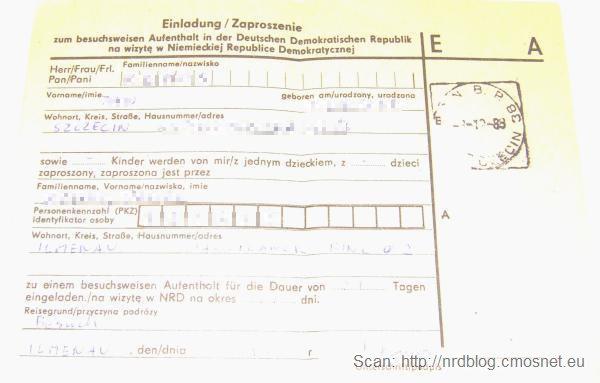 Zaproszenie do NRD, 1989