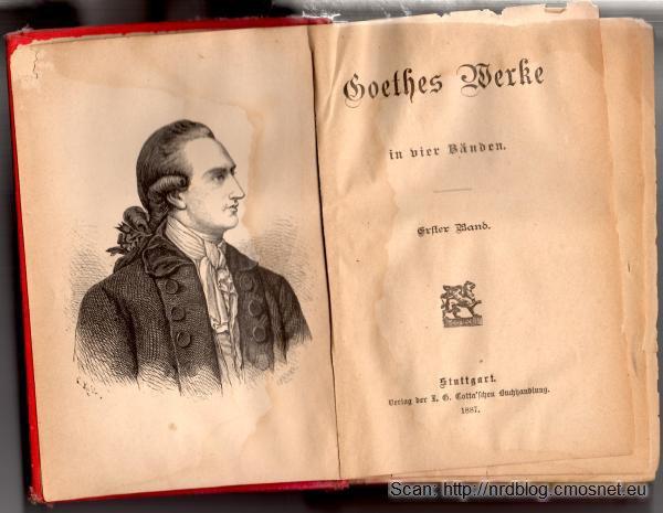 Dzieła zebrane Goethego, wydanie z roku 1887