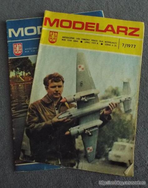 """Modelarz """"Miesięcznik"""" z lat 70-tych"""