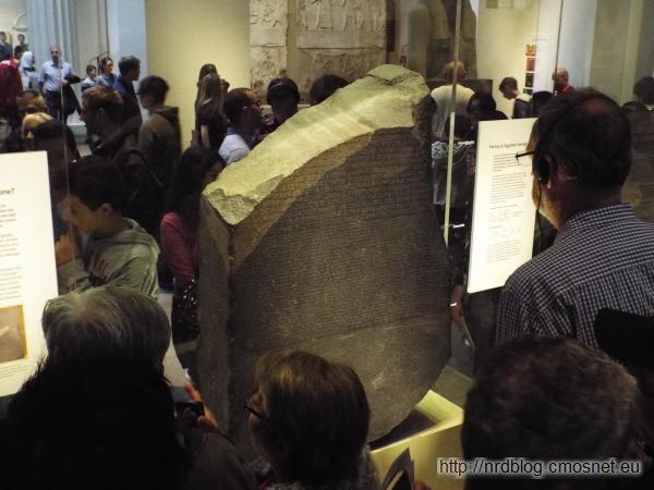British Museum London - kamien z Rosetty