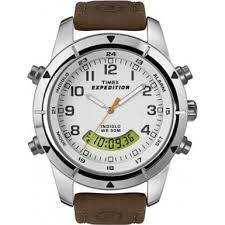 Timex Expedition Metal Combo white