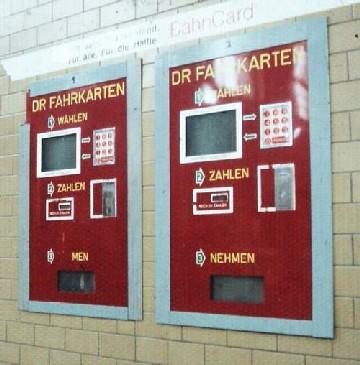 Automat do sprzedaży biletów kolejowych