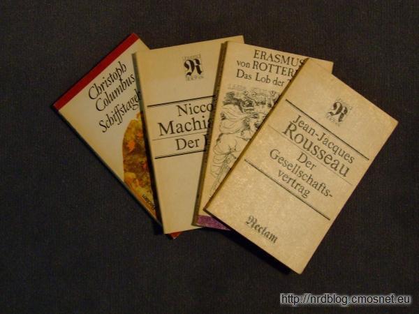Książki wydawnictwa Reclam, NRD