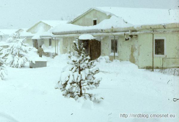 TH Ilmenau - kampus, akademik FB-1 (barak typu Skopje), NRD, 1988